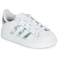 Skor Flickor Sneakers adidas Originals SUPERSTAR EL I Vit / Silver