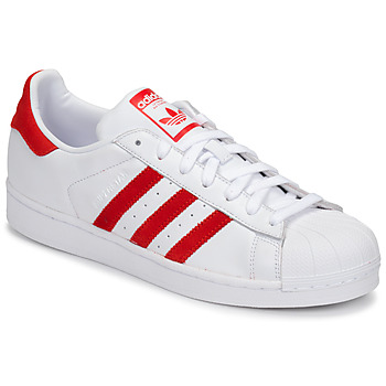 Skor Sneakers adidas Originals SUPERSTAR Vit / Röd