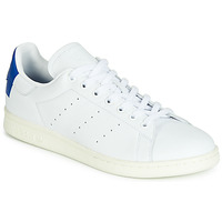 Skor Sneakers adidas Originals STAN SMITH Vit / Blå / Firkantet