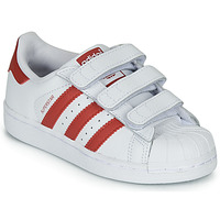 Skor Barn Sneakers adidas Originals SUPERSTAR CF C Vit / Röd