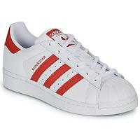 Skor Barn Sneakers adidas Originals SUPERSTAR J Vit / Röd