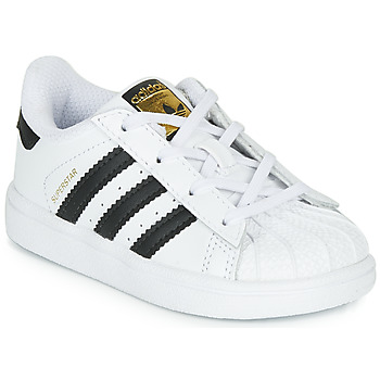 Skor Barn Sneakers adidas Originals SUPERSTAR I Vit / Svart