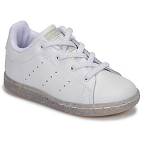 Skor Flickor Sneakers adidas Originals STAN SMITH EL I Vit / Glitter