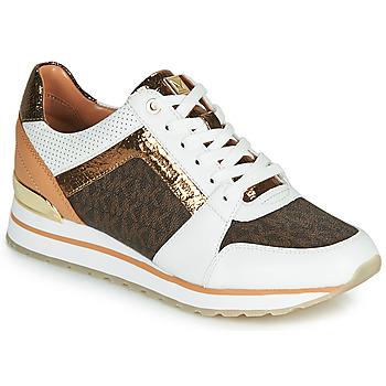 Skor Dam Sneakers MICHAEL Michael Kors BILLIE TRAINER Vit / Brun