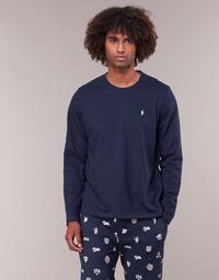 textil Herr Långärmade T-shirts Polo Ralph Lauren L/S CREW-CREW-SLEEP TOP Marin
