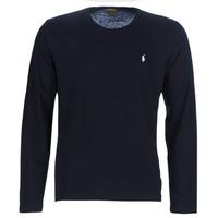 textil Herr Långärmade T-shirts Polo Ralph Lauren L/S CREW-CREW-SLEEP TOP Svart