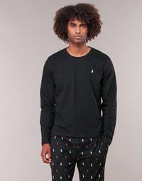 textil Herr Långärmade T-shirts Ralph Lauren L/S CREW-CREW-SLEEP TOP Svart