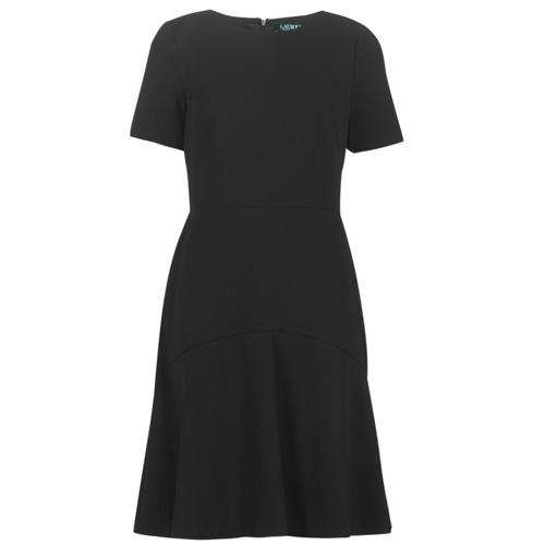 textil Dam Korta klänningar Lauren Ralph Lauren BABA Svart