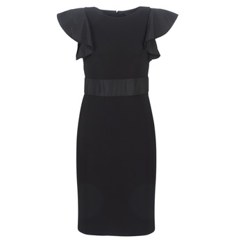 textil Dam Korta klänningar Lauren Ralph Lauren JERSEY SLEEVELESS COCKTAIL DRESS Svart