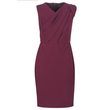 textil Dam Långklänningar Lauren Ralph Lauren RUBY SLEEVELESS DAY DRESS Bordeaux