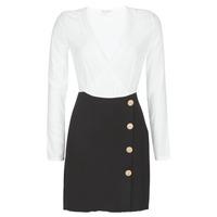textil Dam Korta klänningar Moony Mood LUCE Svart / Vit