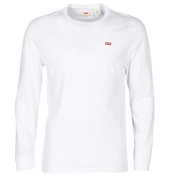 textil Herr T-shirts Levi's LS ORIGINAL HM TEE Vit