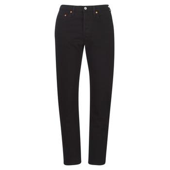 textil Dam Jeans boyfriend Levi's 501 CROP Svart / Heart