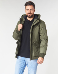 textil Herr Vindjackor Scotch & Soda SHORT HOODED JACKET WITH INSIDE QUILTING Kaki