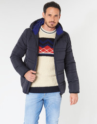 textil Herr Täckjackor Scotch & Soda CLASSIC HOODED PRIMALOFT JACKET Marin