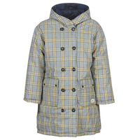 textil Dam Täckjackor Maison Scotch REVERSIBLE DOUBLE BREASTED JACKET IN CHECK AND SOLID Marin