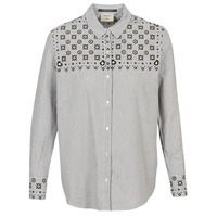 textil Dam Skjortor / Blusar Maison Scotch BUTTON UP SHIRT WITH BANDANA PRINT Grå