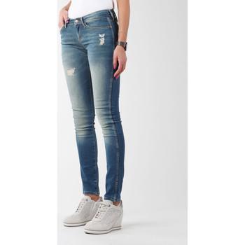 textil Dam Skinny Jeans Wrangler Sandy Blues W23S4072G blue