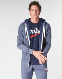 textil Herr Sweatshirts Nike M NSW HERITAGE HOODIE FZ Marin