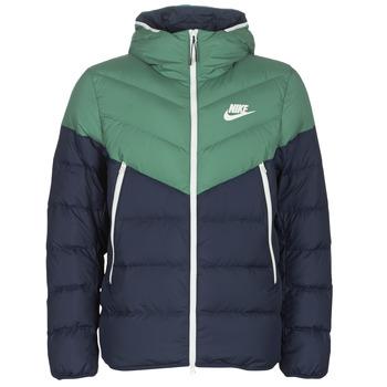 textil Herr Täckjackor Nike M NSW DWN FILL WR JKT HD Marin / Grön
