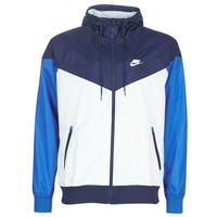 textil Herr Vår/höstjackor Nike M NSW HE WR JKT HD Blå / Vit
