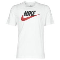 textil Herr T-shirts Nike M NSW TEE ICON FUTURA Vit