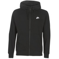 textil Herr Sweatshirts Nike M NSW CLUB HOODIE FZ BB Svart