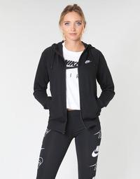 textil Dam Sweatshirts Nike W NSW ESSNTL HOODIE FZ FLC Svart