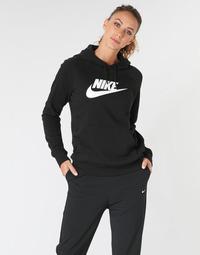 textil Dam Sweatshirts Nike W NSW ESSNTL HOODIE PO  HBR Svart