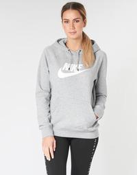 textil Dam Sweatshirts Nike W NSW ESSNTL HOODIE PO  HBR Grå
