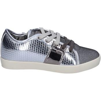 Skor Flickor Sneakers Enrico Coveri sneakers pelle sintetica tessuto Argento
