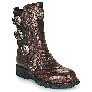 Skor Dam Boots New Rock  Svart / Röd