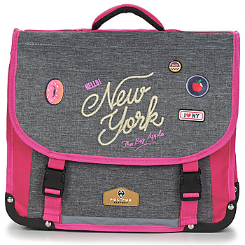 Väskor Flickor Skolväskor Back To School POL FOX NEW YORK CARTABLE 38 CM Grå / Rosa