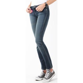 textil Dam Skinny Jeans Wrangler Courtney Storm Break W23SP536V navy