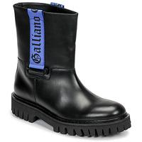Skor Herr Boots John Galliano 8560 Svart / Blå