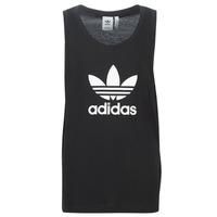 textil Herr Linnen / Ärmlösa T-shirts adidas Originals TREFOIL TANK Svart