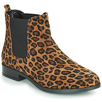 Skor Dam Boots André ELEGANTE Leopard