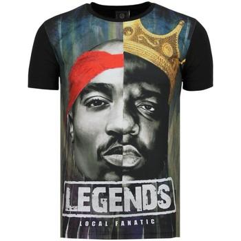 textil Herr T-shirts Local Fanatic Christopher Notorious PAC Legends Zwart Svart