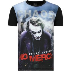 textil Herr T-shirts Local Fanatic The Joker Heren Chaos No Mercy Zwart Svart