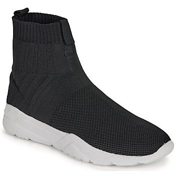 Skor Herr Höga sneakers André LUNAIRE Svart