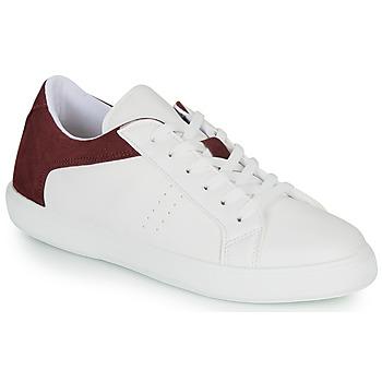 Skor Herr Sneakers André BIOTONIC Vit / Bordeaux