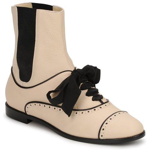 Skor Dam Boots Moschino MA2103 Beige