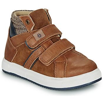 Skor Pojkar Höga sneakers André TIMOTHE Brun
