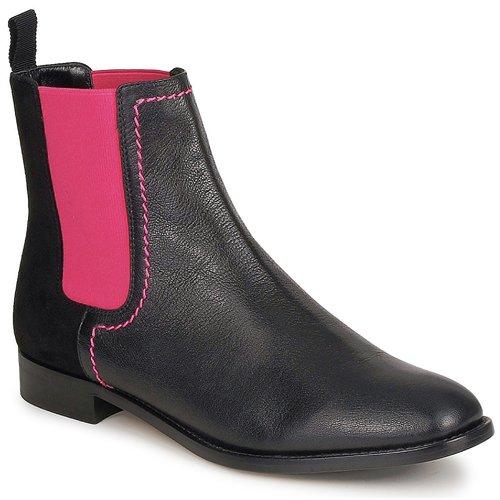 Skor Dam Boots Moschino Cheap & CHIC CA2112 Svart / Rosa