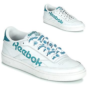 Skor Dam Sneakers Reebok Classic CLUB C 86 Vit / Blå