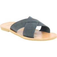 Skor Herr Tofflor Attica Sandals ORION NUBUCK BLACK nero