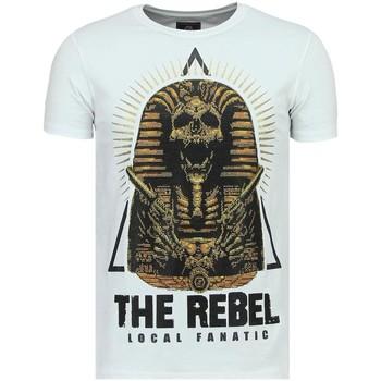 textil Herr T-shirts Local Fanatic Rebel Pharaoh Rhinestones W Vit