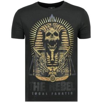 textil Herr T-shirts Local Fanatic Rebel Pharaoh Z Svart