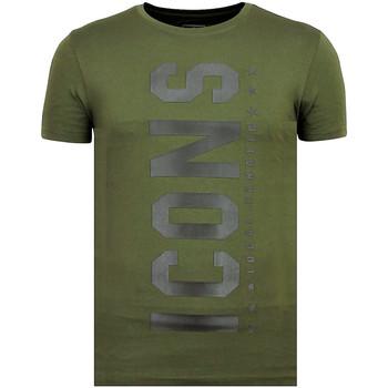 textil Herr T-shirts Local Fanatic ICONS Vertical Sommarkläder G Grön