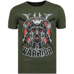 textil Herr T-shirts Local Fanatic Savage Samurai Rhinestones G Grön